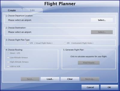 Using the Flight Planner