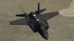 An external view of the F-35A to be included in Prepar3D v2